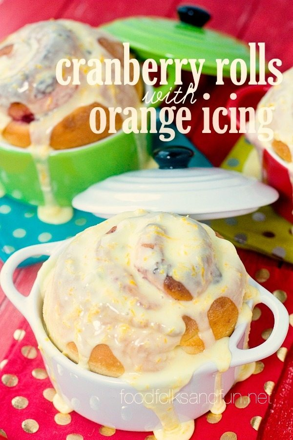 Cranberry Rolls with Orange Icing 4