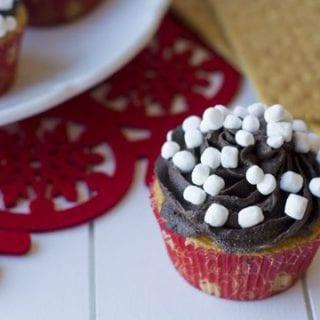 Top view of a Smore Cupcake
