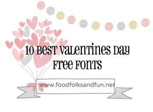 Clip art for free Valentine's Day fonts