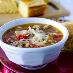 Sausage Butter Bean Soup in a bowl