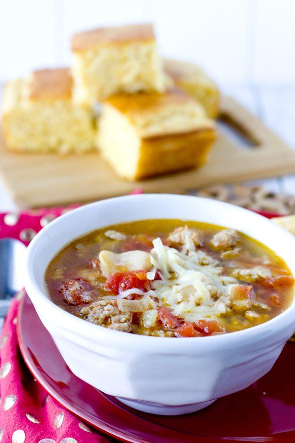 Sausage & Butter Bean Soup 30 minute recipe 3