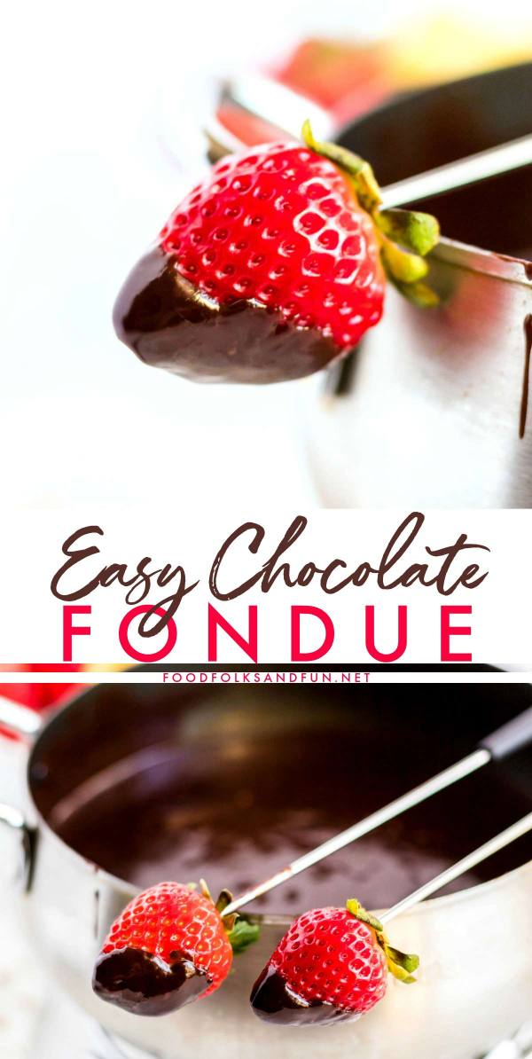Velvety Chocolate Fondue recipe