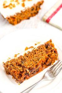 Slice of Carrot Cake ready to be eaten!