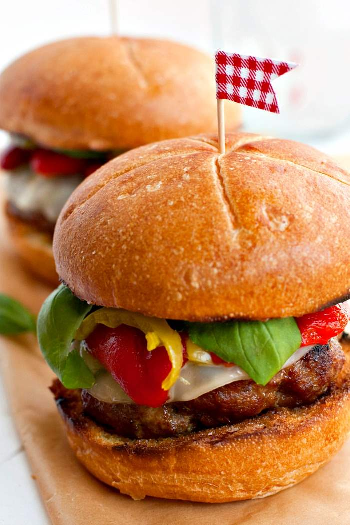 Loaded Italian Sausage Burger