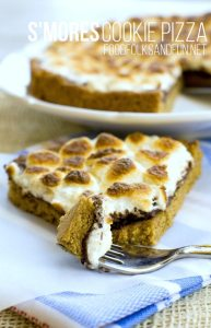 S'mores Cookie Pizza recipe made in 30 minutes plus recipe video!