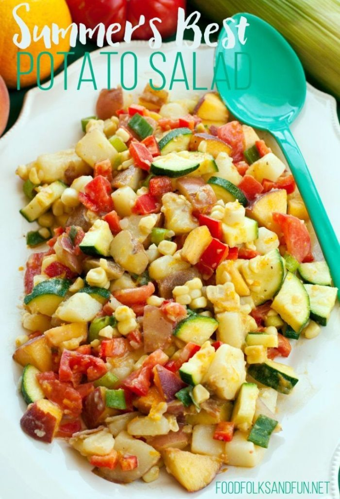 Summer's Best Potato Salad - I love this potato salad because it uses a ton of the summer's best in-season produce and no mayonnaise! It's zesty and the entire family will love it!