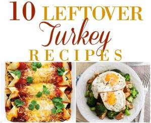 Put those Thanksgiving leftovers to good use and pick one of these 10 Leftover Turkey Recipes to make!