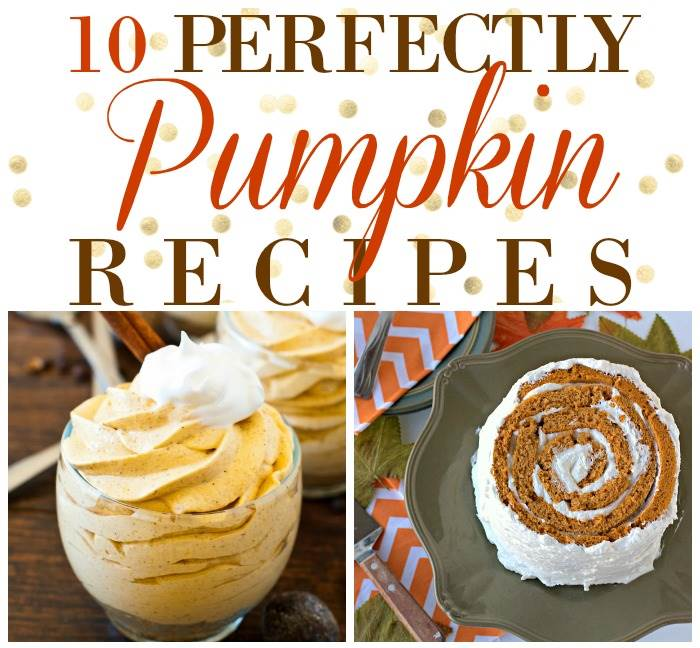 A collage of pumpkin recipes with text overlay for Pinterest