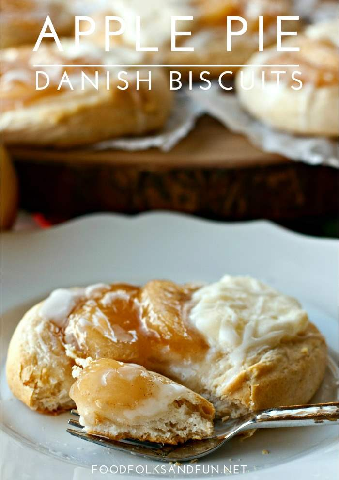 These Apple Pie Danish Biscuits are a versatile Thanksgiving recipe that can be served for dessert or breakfast! Plus, they're incredibly easy to make! via @foodfolksandfun