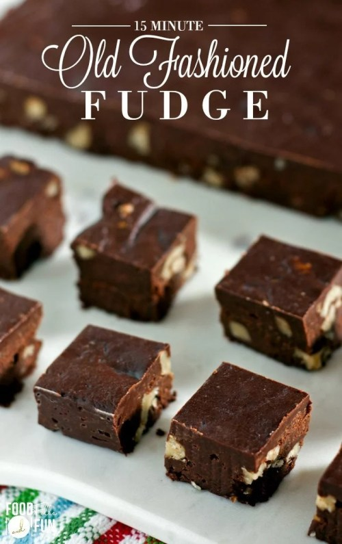 This Old Fashioned Fudge is the best fudge I've ever tasted and you only need 15 minutes of active prep time to make it!