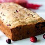A close-up of Cranberry Orange Pecan Bread