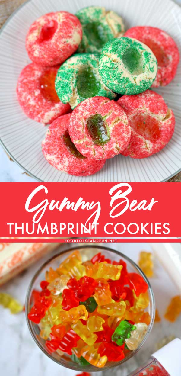 Quick and Easy Gummy Bear Thumbprint Cookies