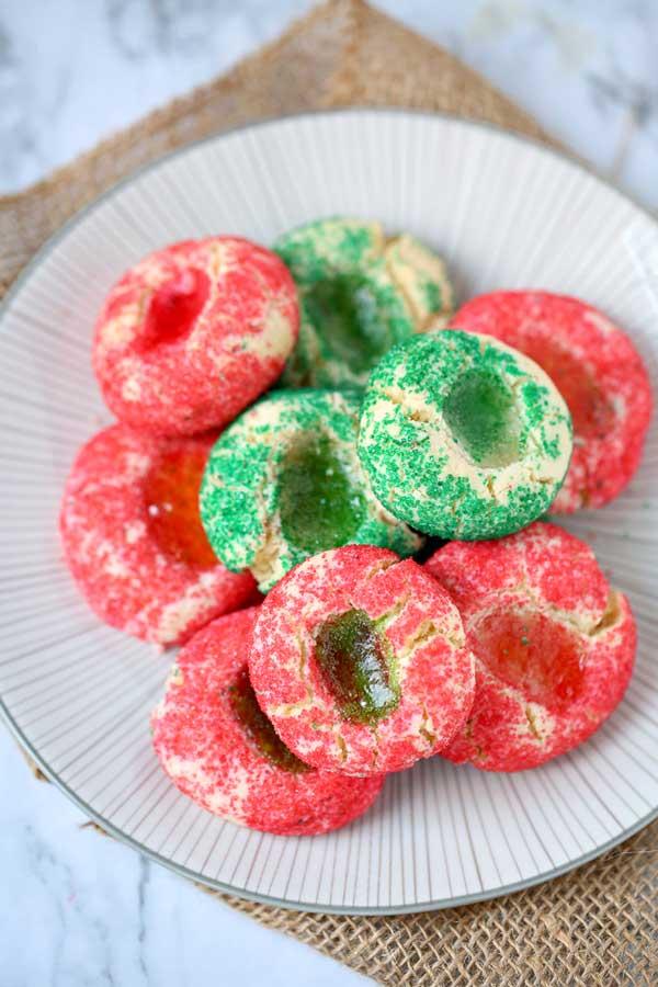 Step 6 - Gummy Bear Thumbprint Cookies