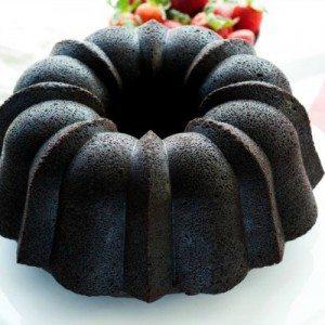 Dark Chocolate pound Cake before frosting