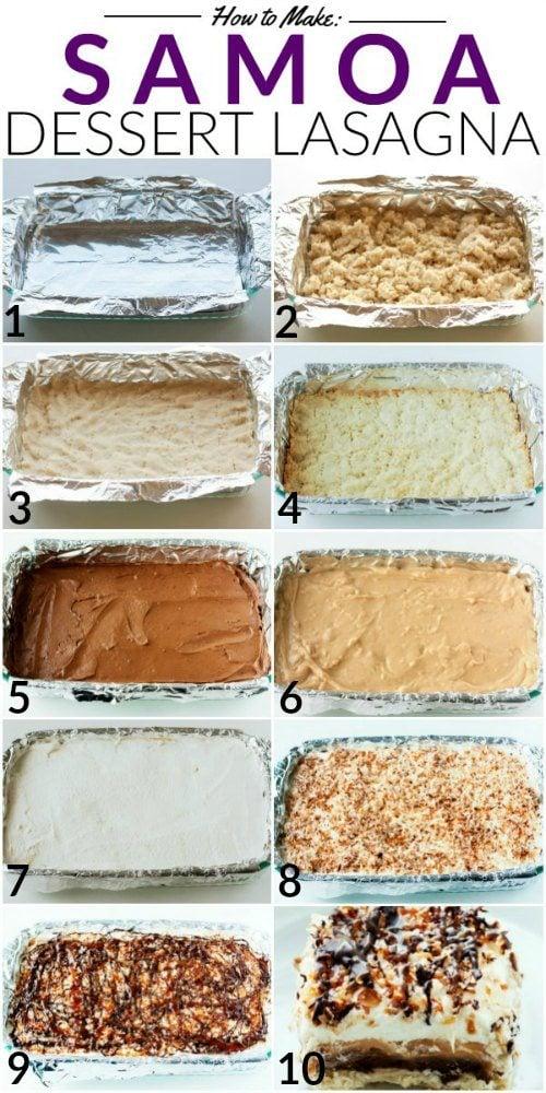 How to make Samoa Dessert Lasagna