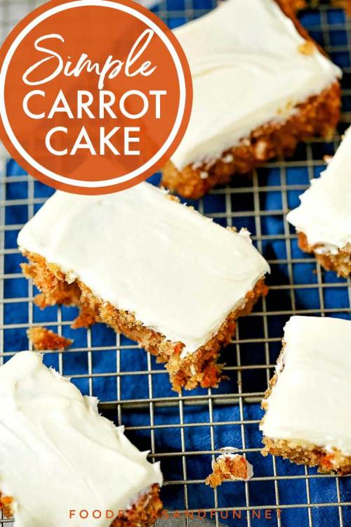 Simple recipe for carrot cake