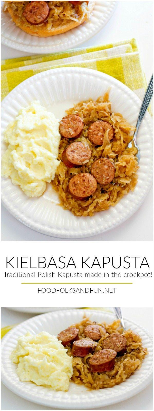 This recipe for Kielbasa Kapusta is my family's traditional Polish Kapusta recipe made in a slow cooker!