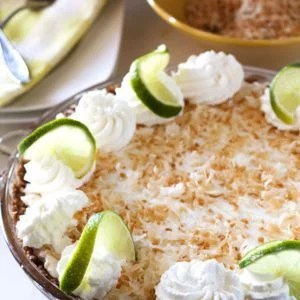 Key Lime Pie in a pie plate