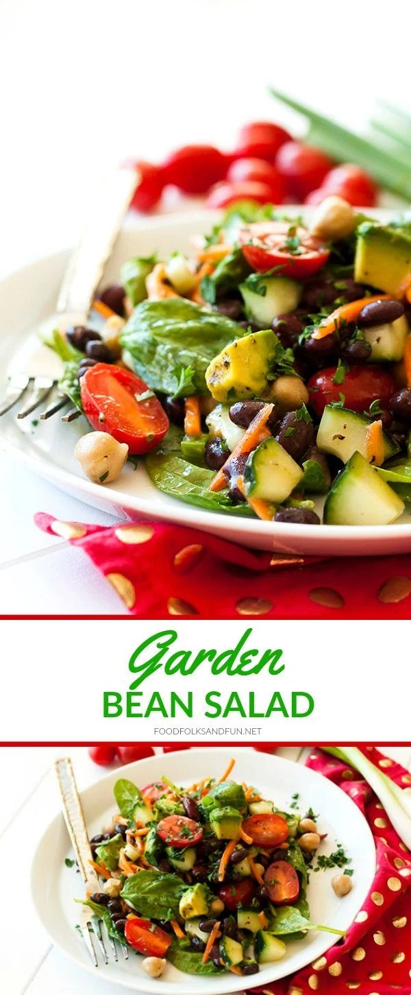 This Garden Bean Salad is perfect as a barbecue side dish, lunch, or even hearty enough for dinner! Plus it's easy to make and easy on the budget!