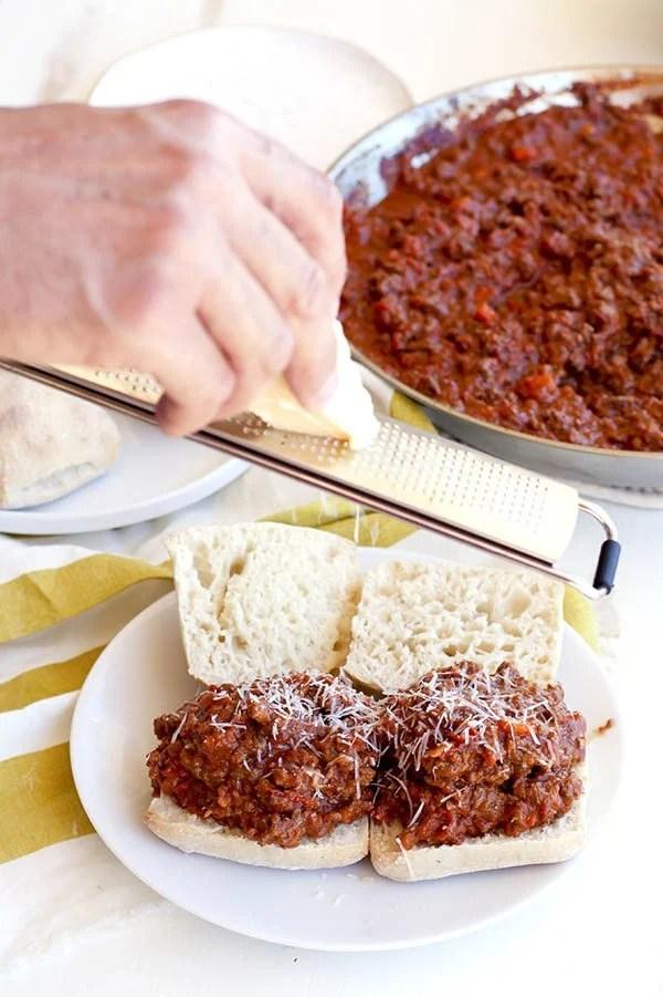 Easy Beef Bolognese Sloppy Joes Recipe