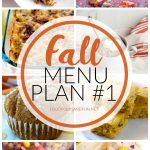 a collage of various dinner recipes for Fall with text overlay for Pinterest