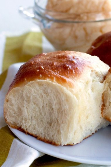 These soft and tender Pull Apart Potato Rolls are my all-time favorite rolls recipe for serving during fall dinners and holidays.