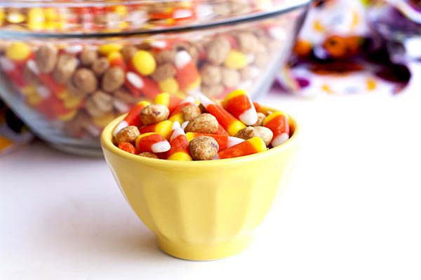 Sweet & Salty Candy Corn Snack Mix • Food, Folks and Fun