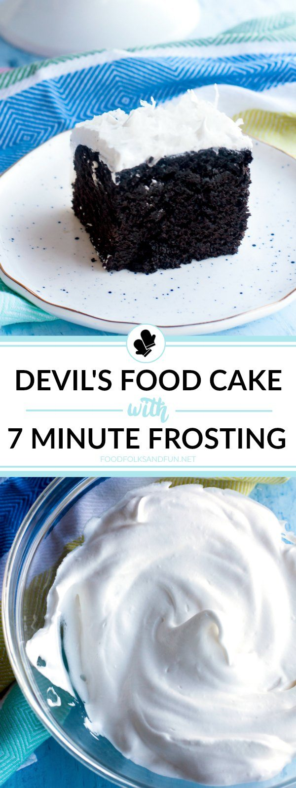 Devil S Food Cake With Seven Minute Frosting Food Folks And Fun