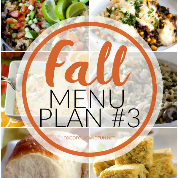 A collage of Fall-themed dinner ideas with text overlay for Pinteres