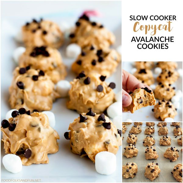 Picture collage of Avalanche Cookies for Facebook.