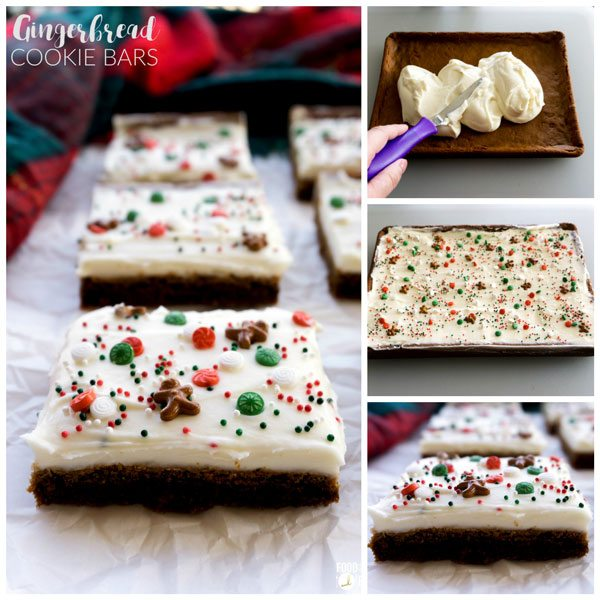 These soft & chewy Gingerbread Cookie Bars couldn't be any easier to make! They are deliciously spicy with just the right amount of cream cheese frosting!