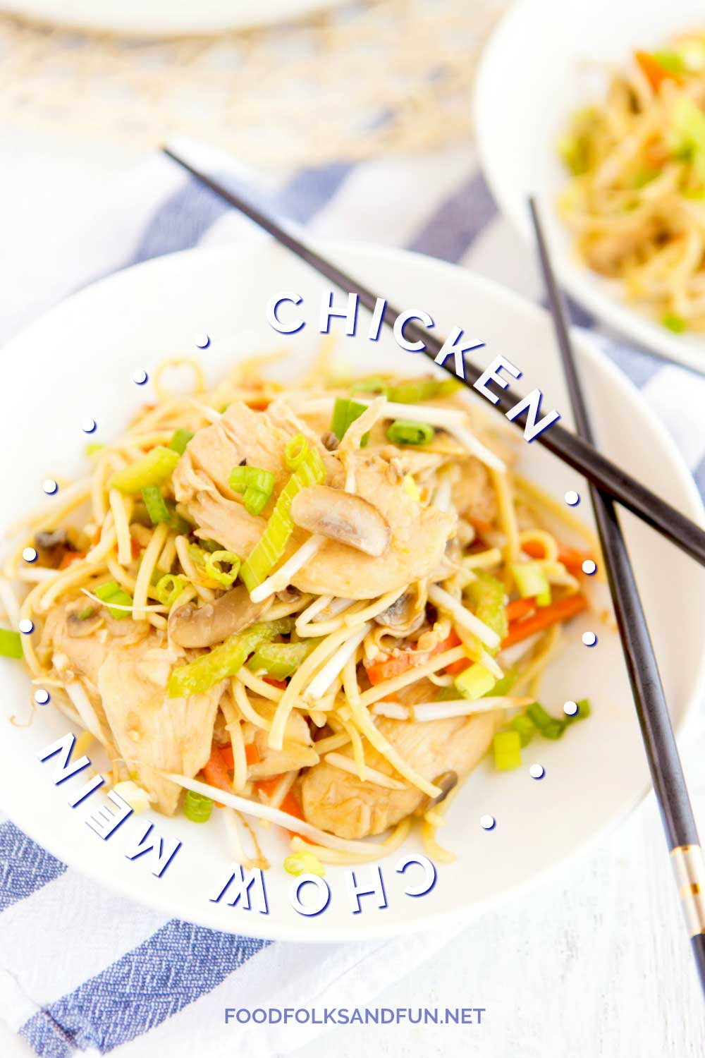 ThisChicken Chow Mein is an easy, at-home recipe that's better than any Chinese takeout! It's simple and so crave-worthy!