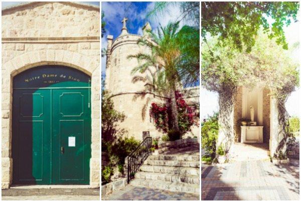 Notre Dame de Sion picture collage