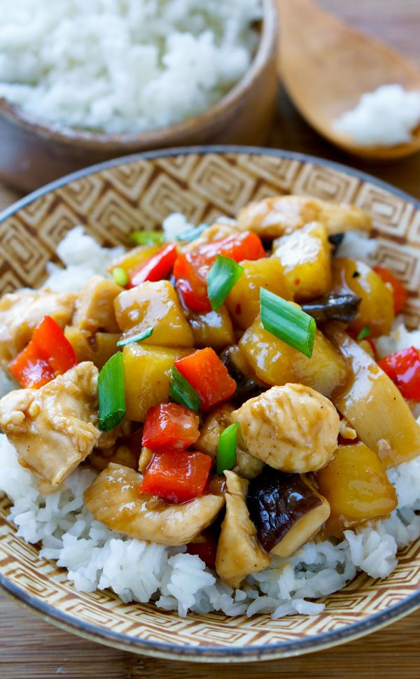 Close up picture of chicken teriyaki.