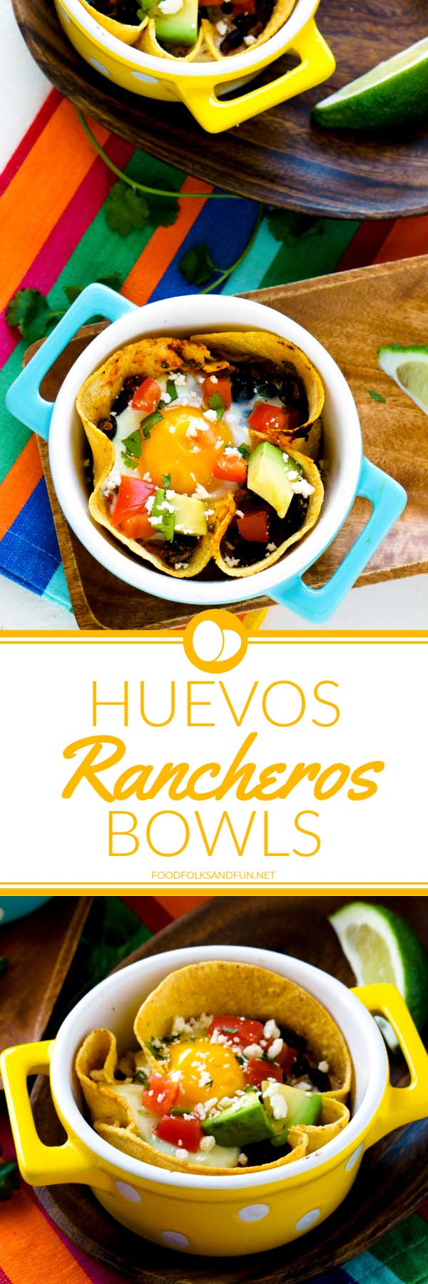 These Healthy Huevos Rancheros Breakfast Bowls are not only easy to make but so satisfying and good for you! via @foodfolksandfun