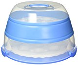 A plastic cupcake storage container