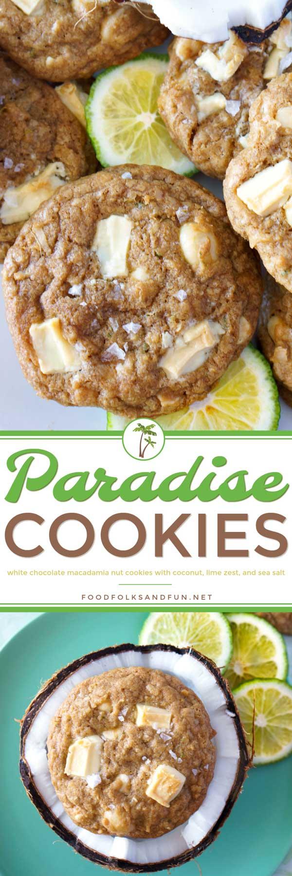 Paradise White Chocolate Macadamia Nut Cookies Recipe