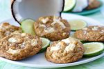 White Chocolate Macadamia Nut Cookies with Lime Zest and Sea Salt