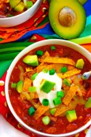 The best Chicken Taco Soup recipe that the whole family will love.