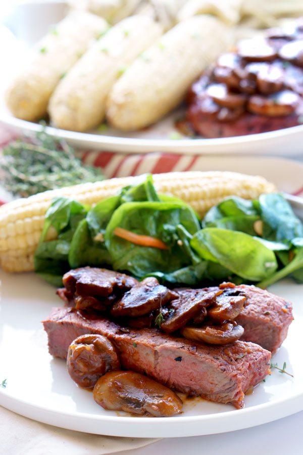 Best-ever Grilled Steak Marsala