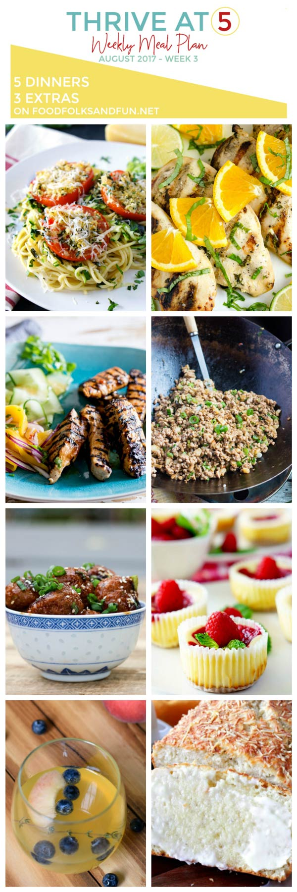 Meal Plan for August week 3