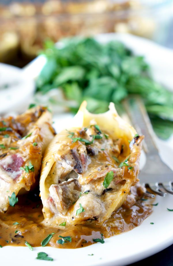 Chicken Marsala Stuffed Shells With Creamy Marsala Sauce Food