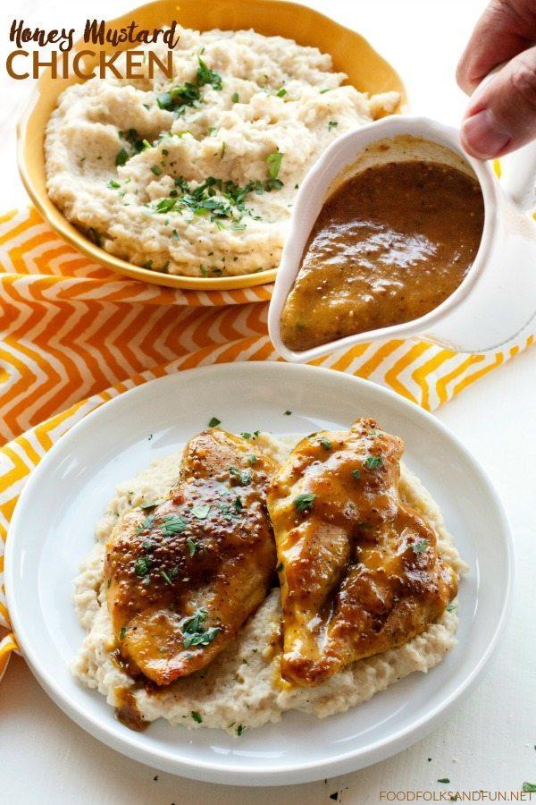 Honey Mustard Chicken on a plate