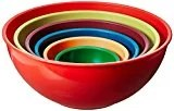 various sizes of colorful mixing bowls