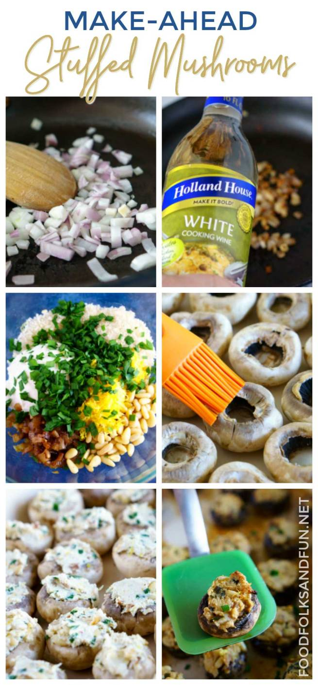 Picture collage of How to Make the Best Stuffed Mushrooms
