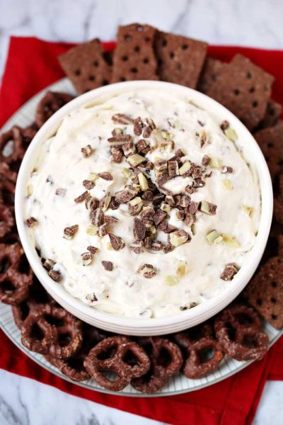 Andes Mint Cheesecake Dip Recipe in just 5 minutes