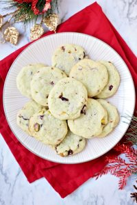 The Best Cranberry Pistachio Pudding Cookies with White Chocolate