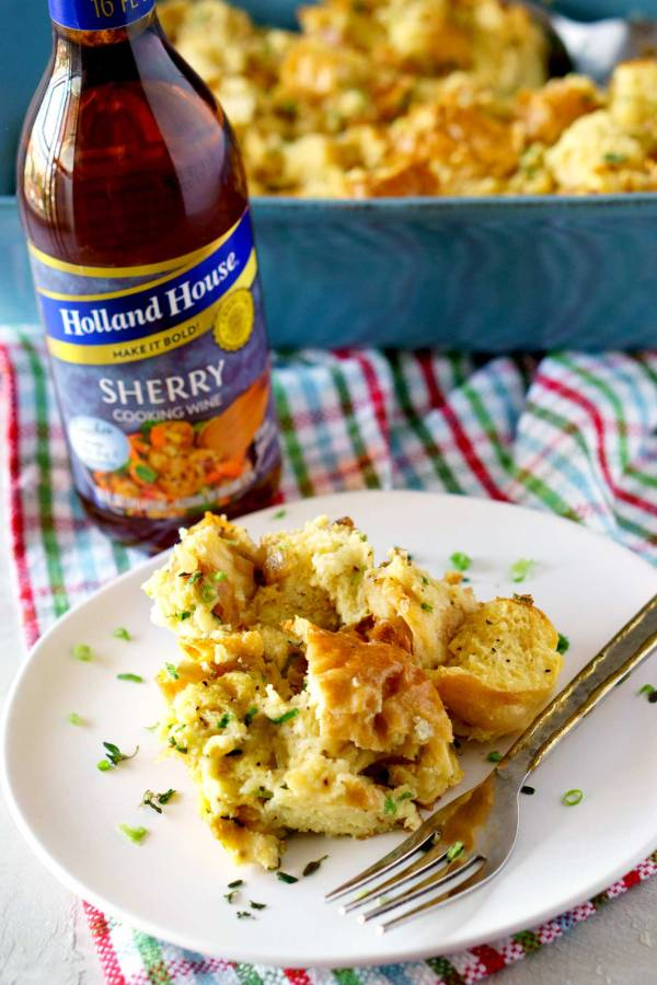 Savory Bread Pudding: a brunch and side dish recipe