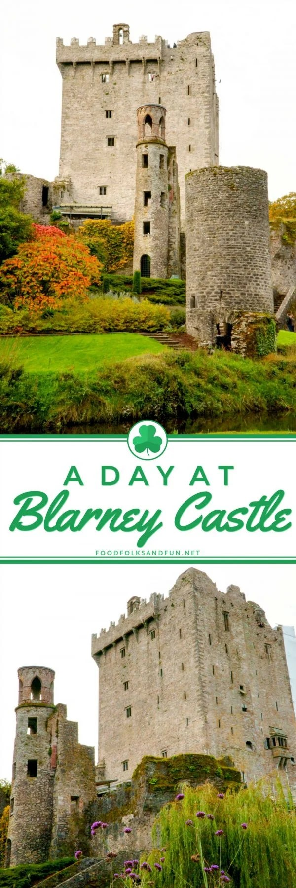 Visiting Blarney Castle and the castle grounds.