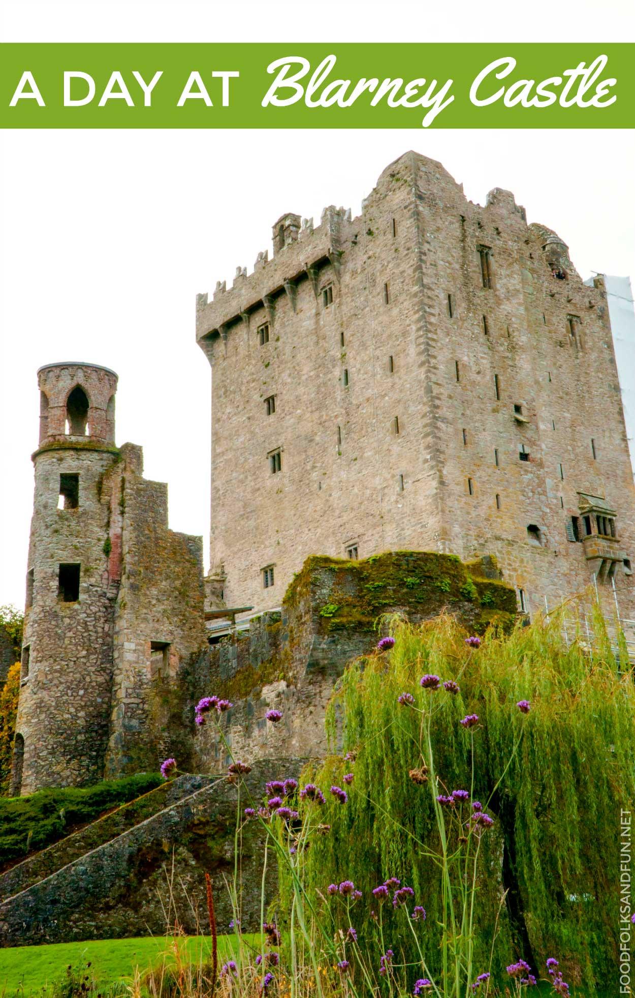 Visiting Blarney Castle.
